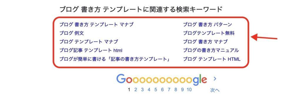 サジェストワードから検索意図を把握する方法2
