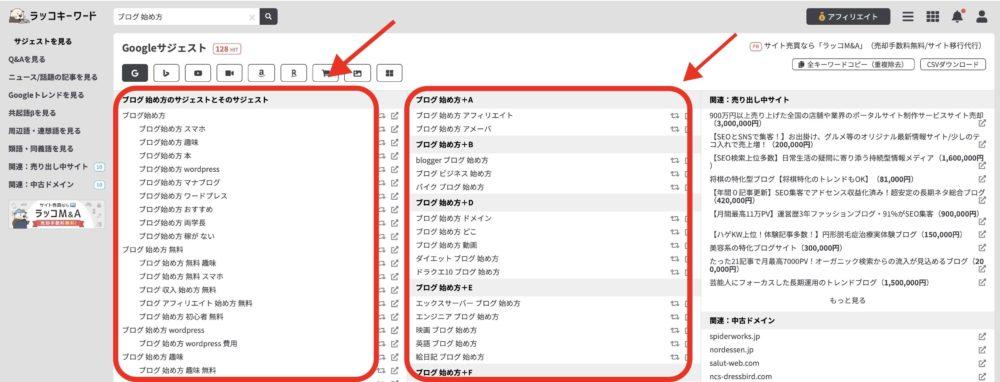 ラッコワードで検索意図を把握する方法3
